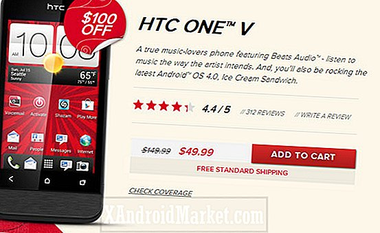 Deal alarm: Tag HTC One V på Virgin Mobile for $ 50 kontraktfri