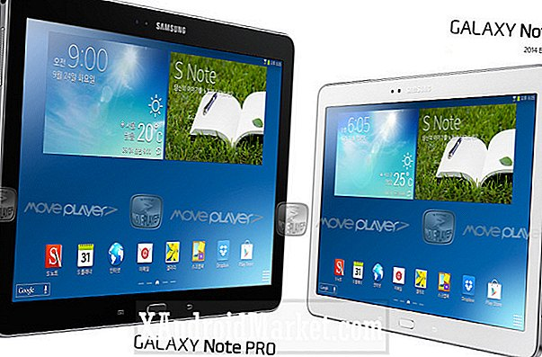 12,2-inch Note Pro, twee Galaxy Tab Pro-tablets worden begin 2014 geroddeld