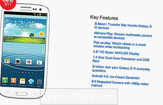 De releasedatum van Verizon Galaxy S3 is nu 11 juli