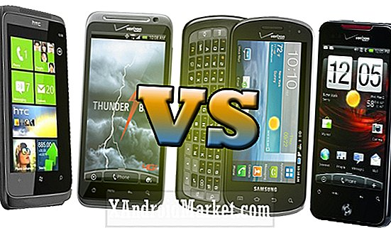 HTC Thunderbolt vs HTC Droid Incredible 2 vs HTC Trophy vs Samsung Stratosphere
