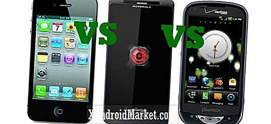 Apple iPhone 4 vs Pantech Breakout vs DROID X2