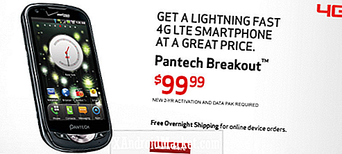 Verizon Pantech Breakout - LTE Android Phone for bare $ 99