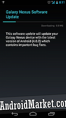 Android 4.0.2 lanzando el Samsung Galaxy Nexus Again!