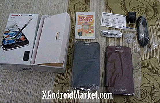 Samsung Galaxy Note 2 i Amber Brown blir unboxed i Japan