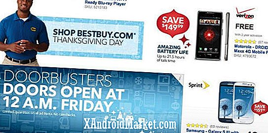 Gelekte Best Buy Black Friday 2012 veel Android-smartphone en tablet deals