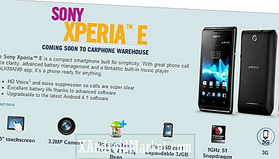 Le Sony Xperia E arrive à Carphone Warehouse UK en février, Jelly Bean non inclus?