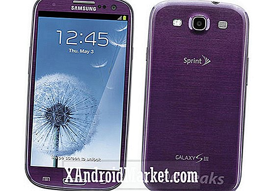 Sprints Galaxy S3 lila outed i render form