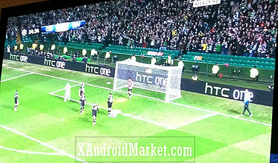 HTC One (M7) navn officielt bekræftet i Celtic Juventus Champions League billboard annonce