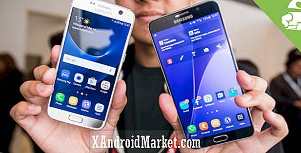Samsung Galaxy S7 vs Samsung Galaxy Note 5 hænder på