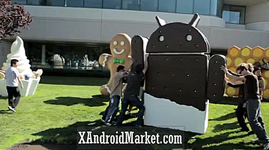 Android 4.0 Ice Cream Sandwich Unwrapped på Google Lawn