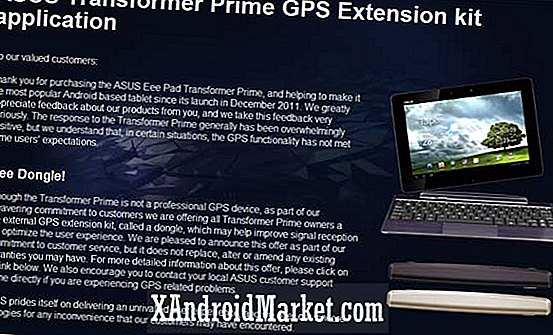 Claim nu uw gratis Asus Transformer Prime GPS-dongle