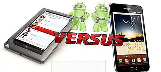 Tablette NOOK vs Galaxy Note: Tablette vs Phoneblet