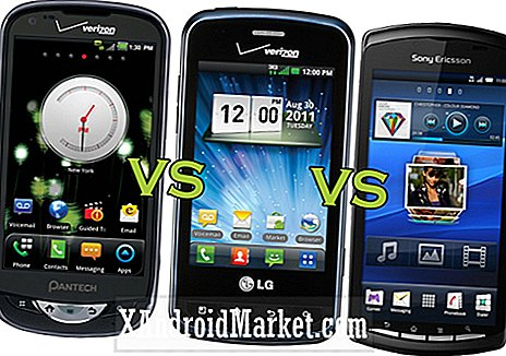 Pantech Breakout contre LG Enlighten contre Sony Ericsson Xperia Play