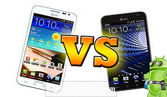 Galaxy S2 Skyrocket HD vs Samsung Galaxy Note