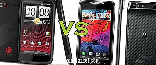 HTC Sensation XE vs Motorola Droid RAZR