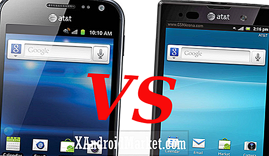 Samsung Exhilarate contre Sony Xperia Ion
