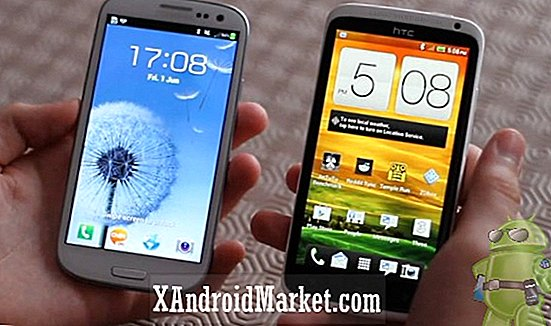 Samsung Galaxy S3 comparado con el HTC One X: una revisión de video